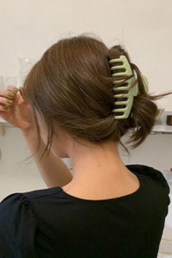 시크모던무드 올림머리 컬러 집개핀 (5color)