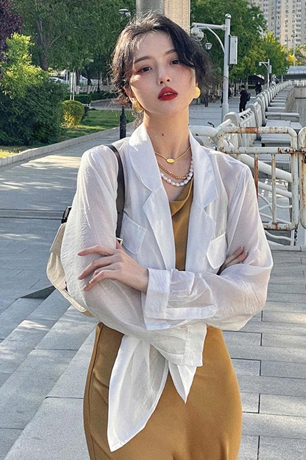 네이즈 멀티네이션 카라 데일리 자켓 겸 셔츠남방 (그린,화이트,베이지)